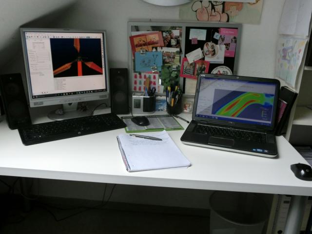 Uli's current workspace.