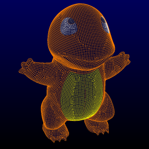 Yes, this is a Pokemon. Thanks to GrabCAD for the geometry model.