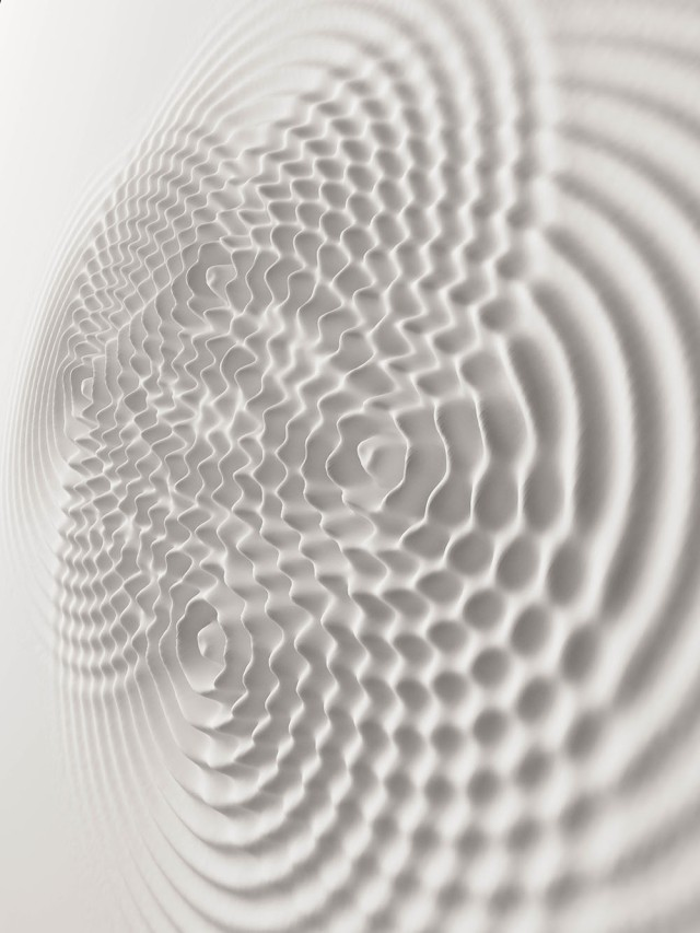 Loris Cecchini, Wallwave Vibrations. Image from Colossal. Slick image for source.