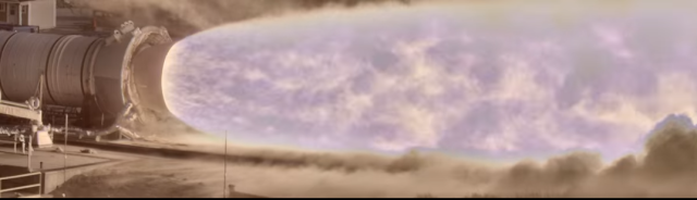 The internet is losing its collective mind over this NASA video of a rocket plume made with a new high dynamic range camera. Click image for video (if you are the only person who has not yet seen this.)