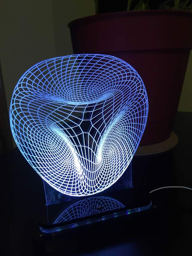 """""""Space,"""" one of the 3D Illusion Lamps available at Touch of Modern. See link above."""