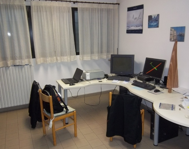 Massimiliano's current workspace.