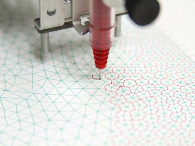 The AxiDraw seems perfect for drawing your meshes and their dual too. See link above.