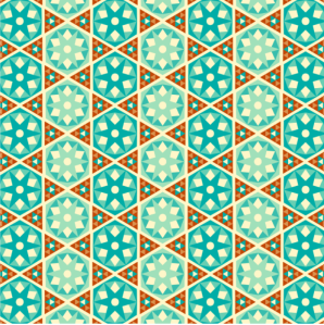 A Python animation inspired by Arabesques: mosaiques murales. Image from Software Carpentry. Click image for link.