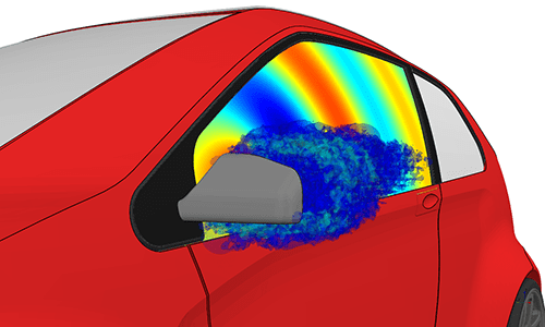 Aero-Acoustic-Simulation-Side-Mirror