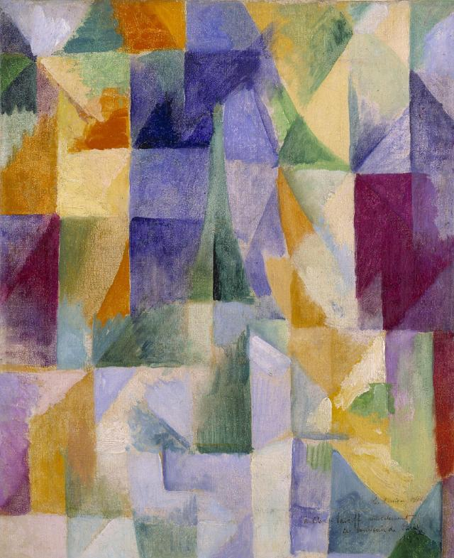 Windows Open Simultaneously (First Part, Third Motif) 1912 by Robert Delaunay 1885-1941