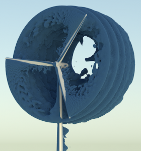 large-eddy-wind-simulation