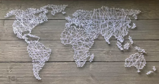 string-art-world-map